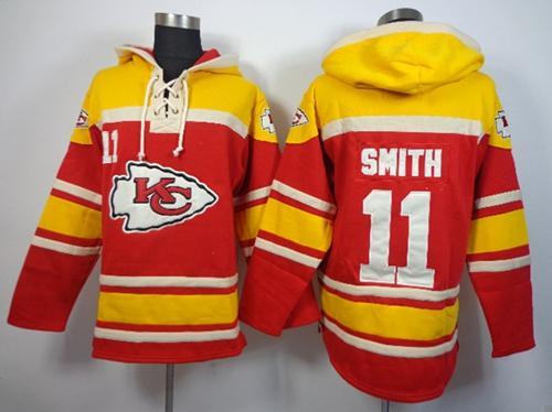 Nike Chiefs #11 Alex Smith Red Sawyer Hooded Sweatshirt NFL Hoodie  for cheap