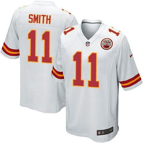 Discount Nike Chiefs #11 Alex Smith White Men\'s Embroidered NFL Game Jersey  free shipping cQ8xjWQU